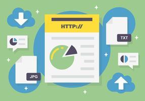 Sfondo vettoriale gratuito di elementi web