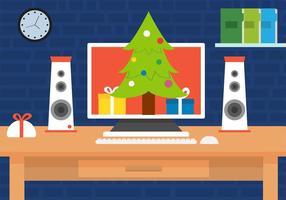 scrivania vettoriale gratis di Natale