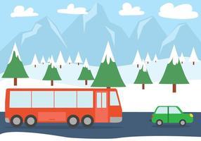 Strada di Natale gratis vettore