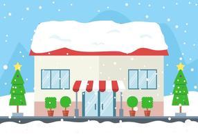 Negozio invernale vettoriale gratuito
