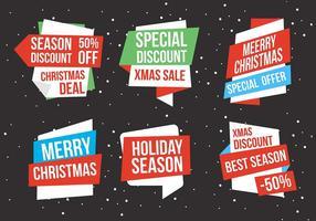 Etichette natalizie vettoriali gratis