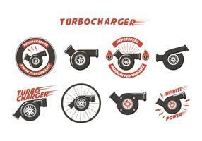 Vettore gratuito del turbocompressore