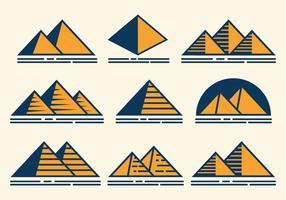 icone vettoriali piramide