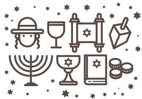 Icone gratis di Shabbat Vcetor vettore