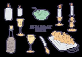 Shabbat icone vettoriali