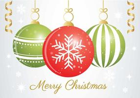 vettore ornamento di Natale