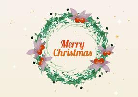 Natale acquerello corona vettoriale