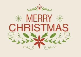 Cartolina d'auguri di Natale floreale vettoriali gratis
