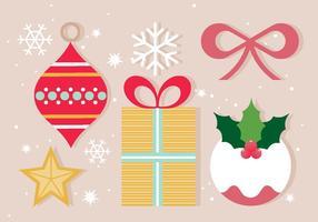 Icone ed elementi di Natale vettoriali gratis