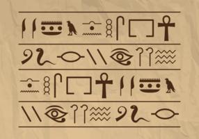 Vettore di geroglifici Egitto Piramide