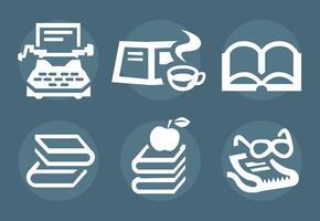 raccontare storie e vector icone libro