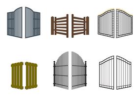 Open Gate Vector gratuito