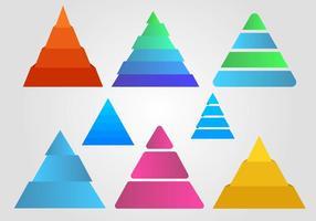 Piramide infografica vettoriale gratuito
