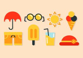 Vettore di elementi di vacanza gratis