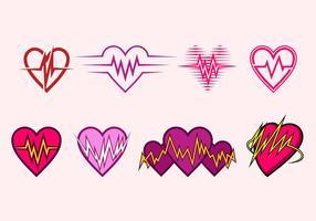 Vettore libero dell'icona di frequenza cardiaca