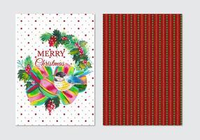 Cartolina di Natale vettoriali acquerello gratuito
