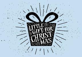 Fondo disegnato a mano d'annata della cartolina di Natale
