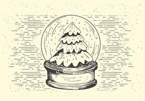 Illustrazione libera della palla della neve di Natale di vettore
