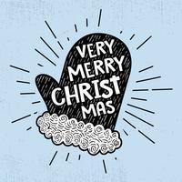 Fondo disegnato a mano d'annata della cartolina di Natale vettore