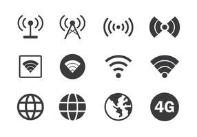 Icona di connessione Internet vettore