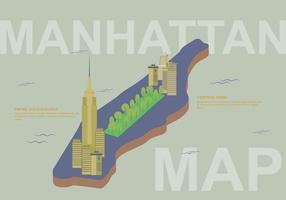 Illustrazione di mappa di Manhattan gratis vettore
