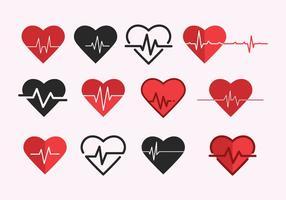 Vettore gratuito di frequenza cardiaca