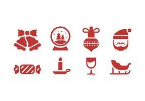 Icone di Natale e d'inverno vettore