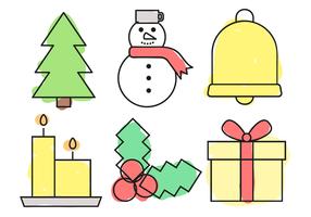 Natale elementi vettoriali