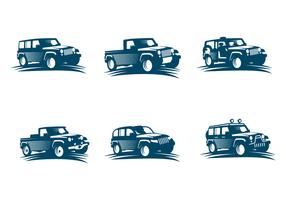 Vettore gratuito di jeep