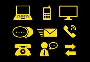 Comunicazione gratuita icone vettoriali