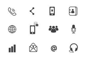 Icone di comunicazione vettoriale