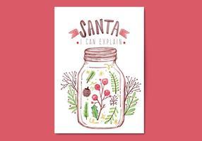 Cartolina di Natale gratis vettore