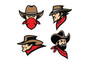 vettore di cowboy