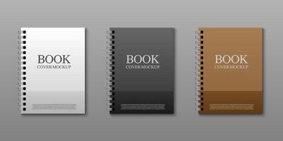 set di mockup di copertine di libri vettore