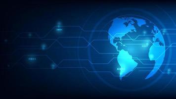 fondo astratto futuristico globale del pianeta terra