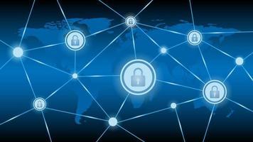 sfondo di protezione della rete di tecnologia informatica vettore