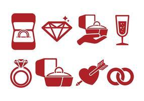Vettore libero delle icone della scatola di anello