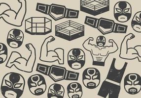 icona combattente lottatore vettore