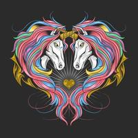 unicorni a forma di cuore