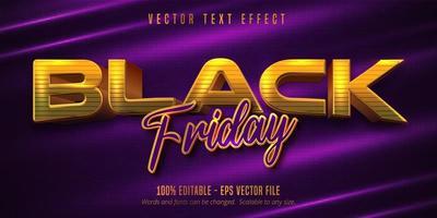 effetto di testo modificabile in stile dorato venerdì nero