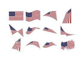 set bandiera usa