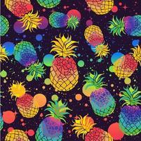 ananas colorati con i colori della bandiera dell'orgoglio vettore