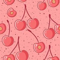 modello senza cuciture di ciliegie rosa