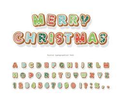 carattere di biscotto di pan di zenzero natalizio vettore