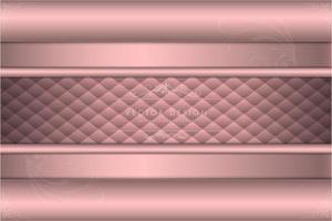 metallo rosa di lusso con sfondo tappezzeria