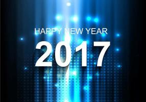 Fondo luminoso di nuovo anno 2017 di vettore libero