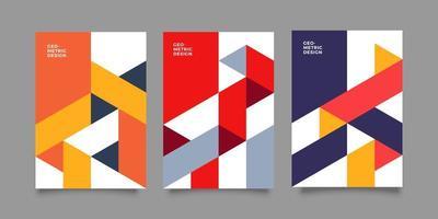 coprire il layout di progettazione dell'illustrazione geometrica astratta vettore