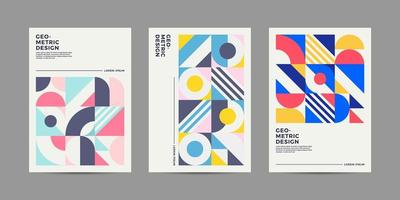 design della copertina geometrica retrò