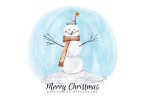 Pupazzo di neve di Natale vettore