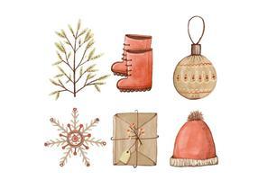 Collezione di elementi natalizi vettore